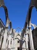 Convento di Carmo a Lisbona Fotografie Stock Libere da Diritti
