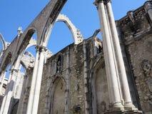 Convento di Carmo a Lisbona Fotografia Stock