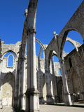 Convento di Carmo a Lisbona Fotografie Stock