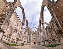 Convento di Carmo a Lisbona Portogallo Fotografia Stock Libera da Diritti