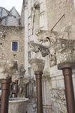 Convento do Carmo in Lisbon. Details of Corbels inside the Convento do Carmo in Lisbon. This large cathedral built by the Carmelite order and was destroyed Royalty Free Stock Image