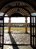 Convento do monastério da cidade do amarelo da igreja de Izamal México Iucatão Foto de Stock
