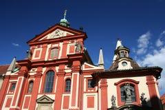 Convento do St George, castelo de Praga, Praga imagens de stock royalty free