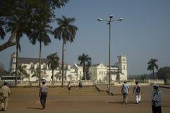 Convento e chiesa dello St Francis della chiesa di Roman Catholic - di Assisi situata nel quadrato principale di vecchio Goa L'In immagini stock