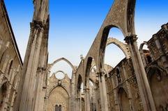 Convento gör Carmo (Lisboa) Arkivbilder