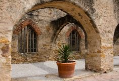 The Convento in mission San Jose, San Antonio, Texas Stock Photos
