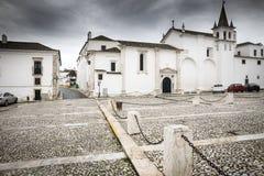 Convento reale das Chagas de Cristo nella città un giorno piovoso, vora di Vila Viçosa del ‰ di à Immagine Stock Libera da Diritti