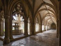 Convento reale della fontana del monastero di Batalha Fotografie Stock