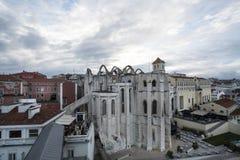 Convento robi Carmo w Lisbon zdjęcie royalty free
