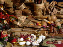 Conventual souvenirs. The Russian conventual wooden souvenirs Royalty Free Stock Photography