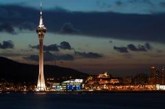 Convenzione della torretta di Macau e centro di intrattenimento immagine stock