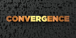 Convergence - Gold text on black background - 3D rendered royalty free stock picture. This image can be used for an online website banner ad or a print Royalty Free Stock Photography