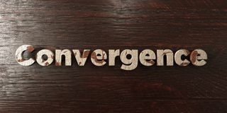 Convergence - grungy wooden headline on Maple  - 3D rendered royalty free stock image. This image can be used for an online website banner ad or a print Royalty Free Stock Image