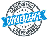 Convergence round grunge stamp Stock Images