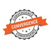 Convergence stamp illustration. Convergence stamp seal illustration design Stock Photos