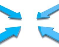 Convergent Arrows Royalty Free Stock Photos