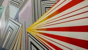 Or convergent et coloré, rouge, orange, jaune, ligne grise modèle images stock