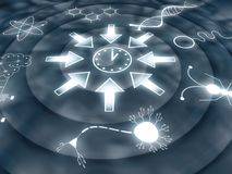 Convergent Evolution - Space - Time - Life - Consciousness. Abstract Illustration Stock Image