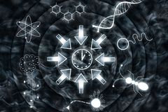Convergent Evolution - Space - Time - Life - Consciousness. Abstract Illustration Stock Photography
