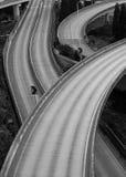 Convergentie van vele snelwegen Stock Foto