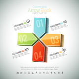 Converging Arrow Block Infographic Stock Photo