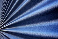 Converging Corrugated wall Stock Photo
