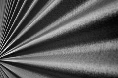 Converging Corrugated wall BW Stock Images