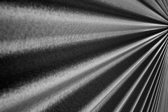 Converging Corrugated wall BW  converging to right Stock Photos