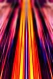 Converging light beams background. Dynamic converging yellow and red light beams background vector illustration