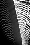 Converging lines. In modern building Royalty Free Stock Image