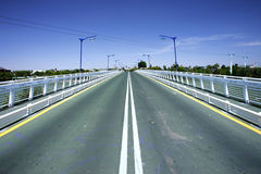 Free Converging Lines Of Road On Bridge Stock Images - 170944