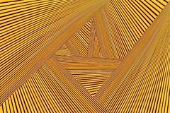 Converging lines of planks. Abstract photo montage of yellow orange timber. Converging lines of planks Stock Photos