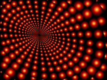 Converging red orbs Royalty Free Stock Image