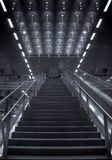 Converging stairs central station Berlin Royalty Free Stock Photos
