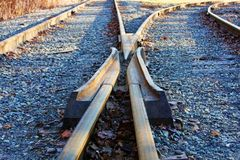 Converging Tracks Royalty Free Stock Photos