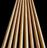 Converging wooden chopsticks Royalty Free Stock Photos