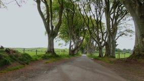 Conversão escuras de Stranocum na Irlanda norte vídeos de arquivo