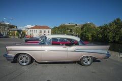 Conversível de capota dura 1957 da porta de Chevrolet Bel Air 2 Imagens de Stock