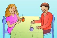 Conversação ilustração royalty free