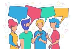 Conversação amigável, encontro dos amigos ilustração do vetor