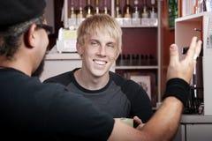 Conversação da casa de café imagem de stock royalty free