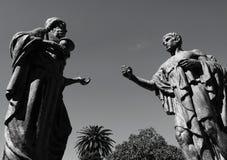 Conversação das estátuas Foto de Stock Royalty Free