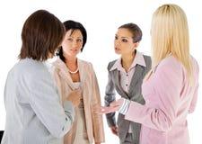 Conversação das mulheres de negócios da equipe Imagem de Stock Royalty Free