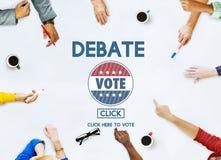 A conversação do debate delega o conceito de fala fotografia de stock