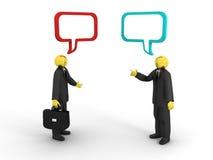 Conversação do negócio Foto de Stock