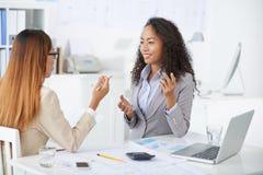 Conversação do negócio Fotos de Stock