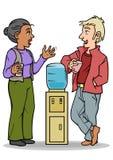 Conversação do refrigerador de água Imagens de Stock Royalty Free