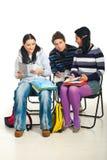 Conversação dos estudantes foto de stock