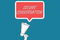 Conversação segura do texto da escrita O significado do conceito fixado cifrou uma comunicação entre serviços de Web ilustração do vetor