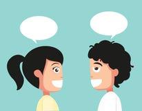 Conversação típica, vetor ilustração do vetor